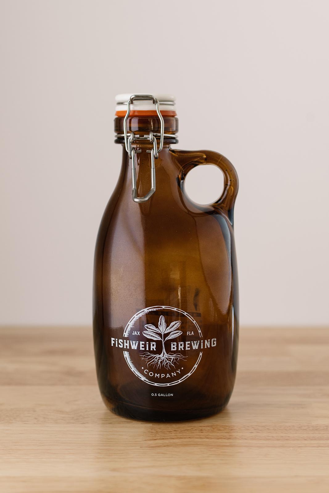 fishweir brewing company growler design cedar rapids iowa graphic designer