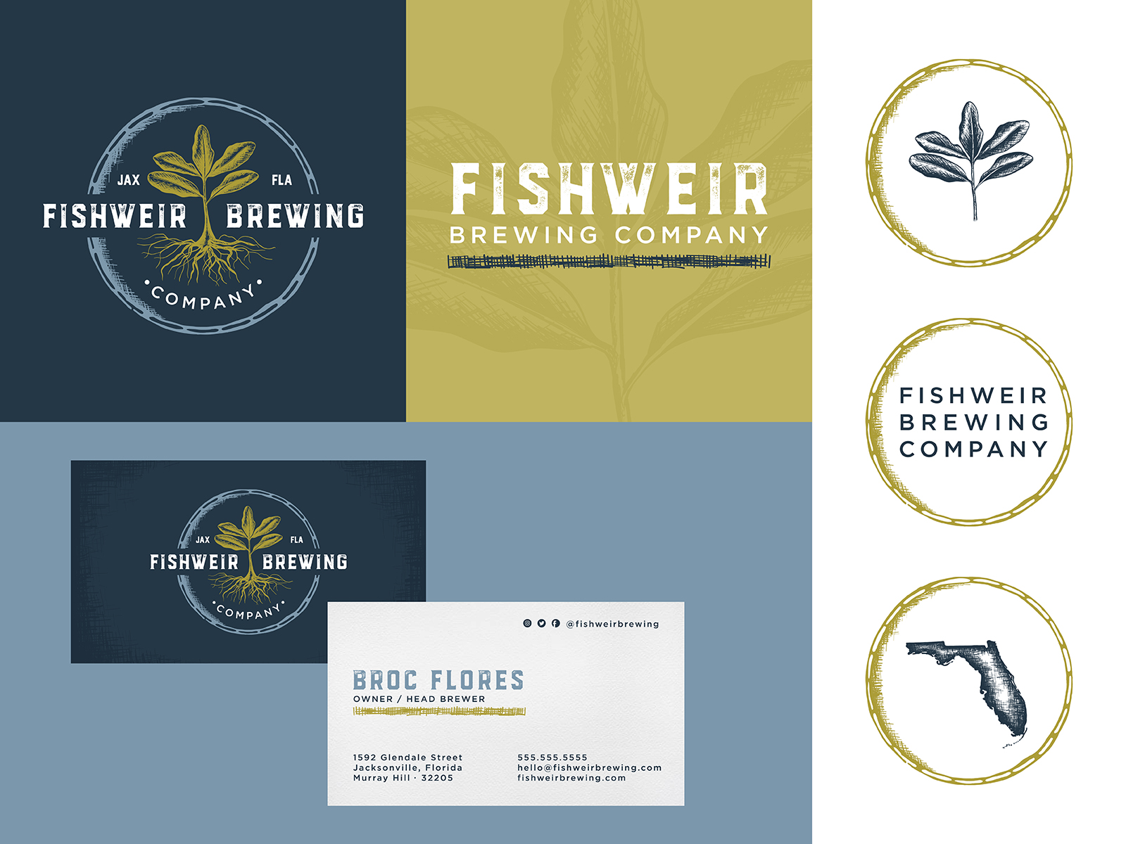 fishweir brewing company craft beer logo and brand identity design cedar rapids graphic designer